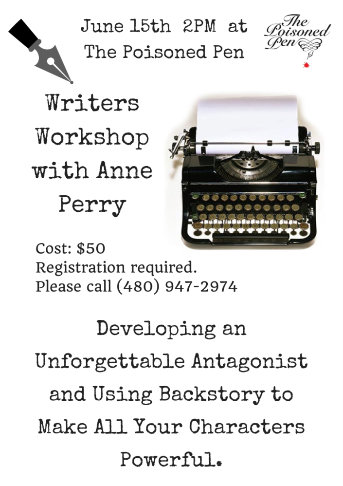 Anne Perry Writers workshop