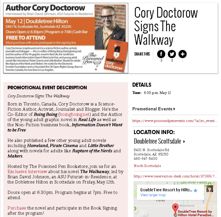 Cory Doctorow ad